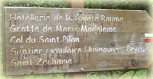 Suivre le GR9 en direction de Saint-Zacharie ...
