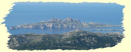 Iles de Marseille vues du Mont Carpiagne