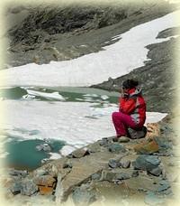 Randonnée Le Grand Cocor_lac gelé_Savoie_Les Randos de Loulou
